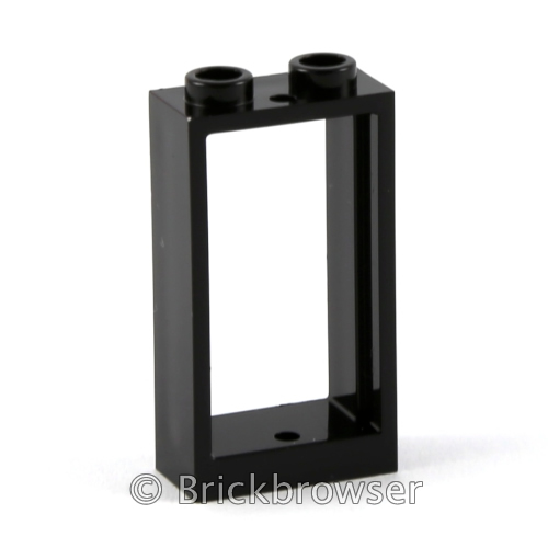 LEGO Vrac 10 x Fenêtre Noir 1 x 2 x 2 Black Window with Glass Neuf